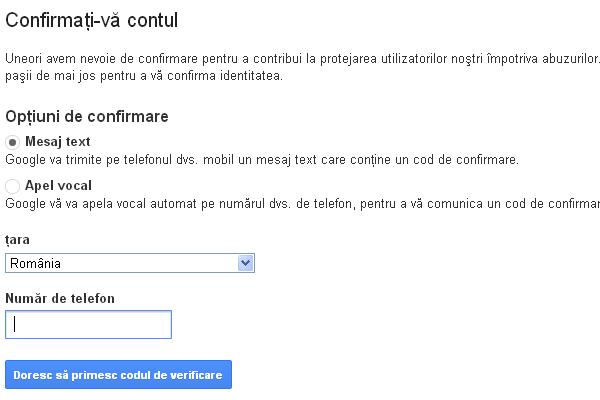 Confirmare Google App