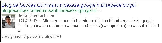 Google autorship
